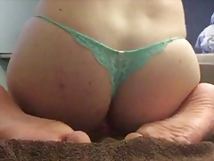 Crossdresser fucks tight ass with dildo