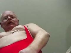 Old Man cumming