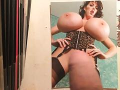 Balloon boobs cum tribute