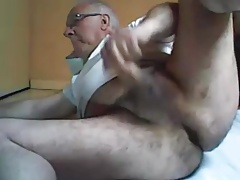 grandpa play and stroke