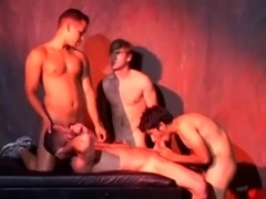 Four homos fuck after pleasing one another with blowjobs