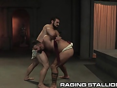 RagingStallion Jaxton Wheeler Thrusts Cock in Hairy Hole