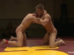 Bryan Cole deepthroats a cock before jumping on it on a ring