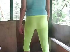 Tight spandex leggings