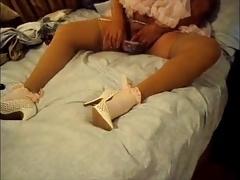 Sissy dolled up sheer pink panties