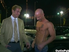 Brock Armstrong and Connor Maguire have ardent gay sex on the parking
