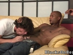 Julian Furnatoru gets his ass fucked doggy style after sucking a BBC