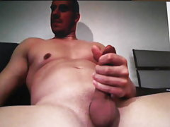 Very hot smooth guy shows his big cock on cam
