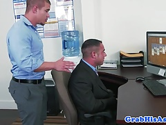 Office stud disciplined with anal pounding