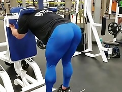Muscled male butt