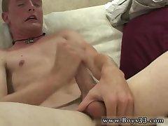 Blonde nude boy tugging dick
