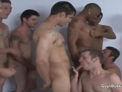 Interracial Bareback Group orgy