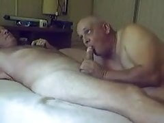 Two sexy old grandpa sucking with each other