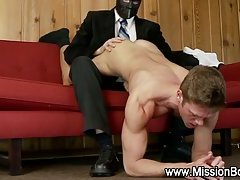 Handjob for hunky missionary