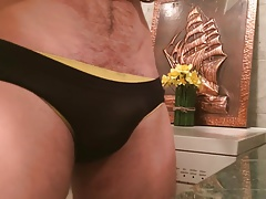 GROPPING AND TEASING HIS BULGE ON TIGHT BRIEFS