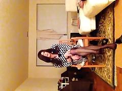wrap dress and cute feet