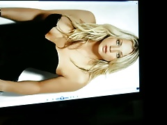 Kaley Cuoco Cum Tribute Huge load on her cute face