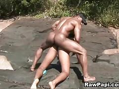 Macho Latino Gay Papis Fucking Ass hole Wet and Wild