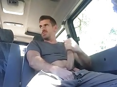 Jerking off your huge cock on the bus