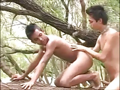 Latin Boys Bareback Outdoor