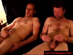 Gaysex mature rednecks tug after anal
