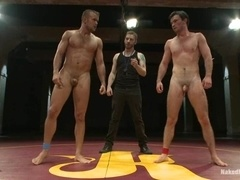 Axel Flint and Connor Patricks suck and ride each other's cocks on tatami