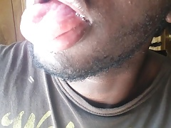 My spit and tongue. I'm thirsty