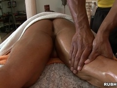 The Rock enjoys massage and gets his butt pounded by gay Robert Axel