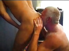 Two gay mature men fucking with each other