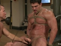 Brenn Wyson gets tied up, tortured and fucked in gay BDSM scene