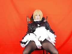 Moaning Rice Queen Femboy Rides Dildo