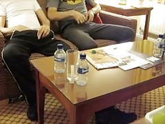 Two Friends Pissing in Hotel Room - Nice Cocks
