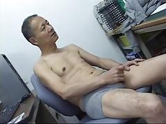 Japanese daddy cumming show
