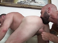 Muscular and passionate men