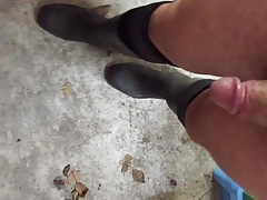 rubber boots and socks masturbating