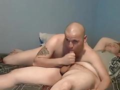 Cub sucking and eating cum