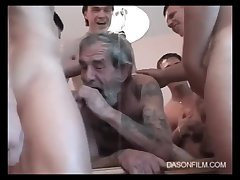 Five Germanic Youngmen And One Oldman