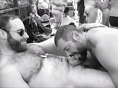 Masculine men cumming in public