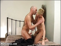Young cockteaser gets his crack plowed by old man