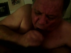 Daddy sucking my cock