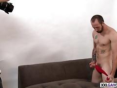 Dustin Steele spreads his legs for Anthony Jones