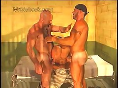 Gay in a prison threesome
