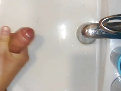 Masturbation in bathroom
