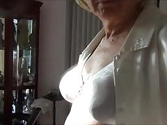 Naughty Gigi smoking, flashing, and sucking