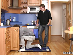 Plumber turns into gay slut boy