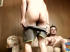 Naked thugs Devin Reynolds and Drift love trading blowjobs