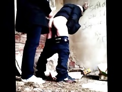Compilation of an Hot Old Man Fucking Outside