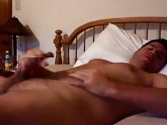 Muscular stud wanking