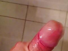Baby oil jerking off