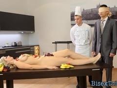 Bisex slut swapping cum
